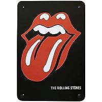 The Rolling Stones Tongue Carteles de Chapa Póster de Pared Hojalata Vintage Hierro Pintura Retro Metal Placa Arte Decoración para Hogar Bar Club Café