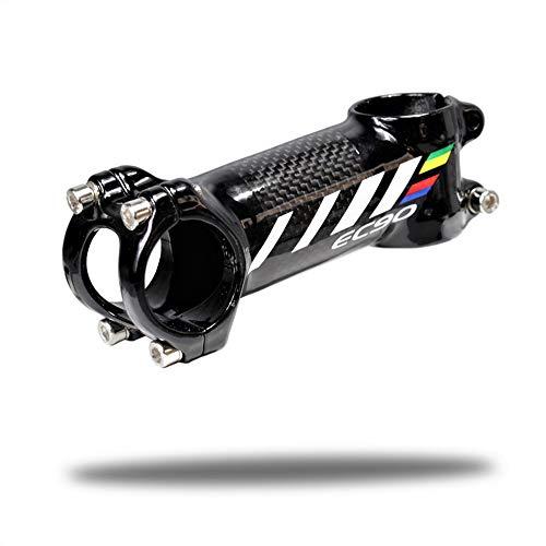 LIDAUTO Mountain Bike Handleba Vorbau 3K Kohlefaser MTB Hohe Festigkeit für die meisten Fahrräder 28,6 * 31,8 mm,80mm -