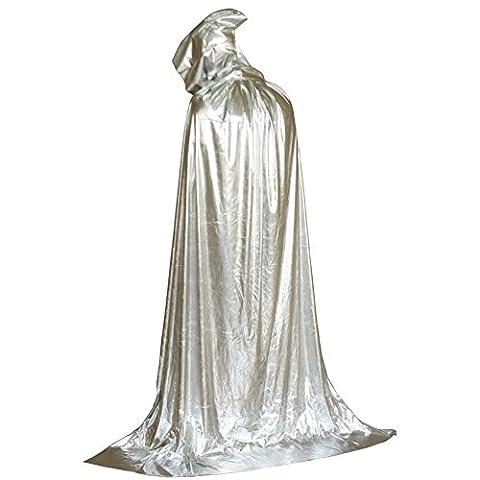Brightup Hoodie à capuche Médiévale Manteau Noir Grim Reaper Costume d'Halloween Costume de déguisement Pour Adulte