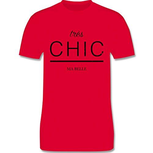 Statement Shirts - Très Chic Ma Belle - Herren Premium T-Shirt Rot