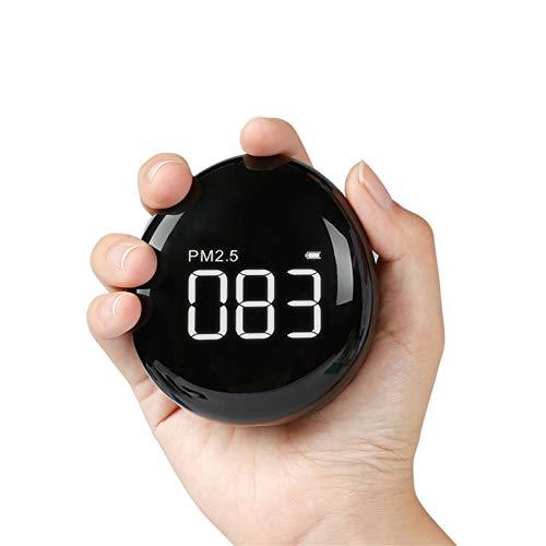 JUZEN Handheld Air Detector Haushalt Indoor Gas PM2.5 Instrument 24 Stunden Überwachung Air Portable Air Quality Detektor, schwarz -