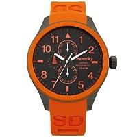 Reloj Superdry SYG110O de cuarzo para hombre, correa de silicona color naranja de Superdry