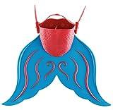 Yeying123 Lange Schwimmende Flossen, Schwimmen Flossen Einstellbare Meerjungfrau Schwanz Für Kinder Schwimmen Mädchen Jungen,Blue
