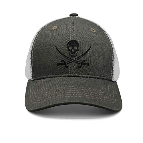 Rghkjlp Hombres y Mujeres Espadas de Calavera Pirata Ajustable Vintage Washed Denim Cotton Dad Hat Sombrero de béisbol Diseño natural29