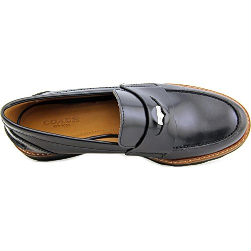 Coach Indie Box Calf Loafer Black