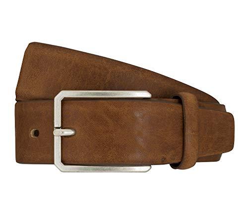 LLOYD Men's Belts Gürtel Herrengürtel Vollrindleder Beige 7579, Farbe:Braun, Länge:85