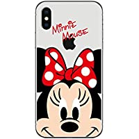 Disney Winnie Mickey Daisy y Donald Duck Clear TPU Funda blanda para Apple IPHONE X MINNIE MOUSE