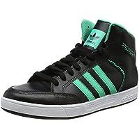 Mens Varial Mid Skateboarding Shoes, Black (Core Black/Hi-Res Green/Footwear White), 10.5 UK 46 EU adidas