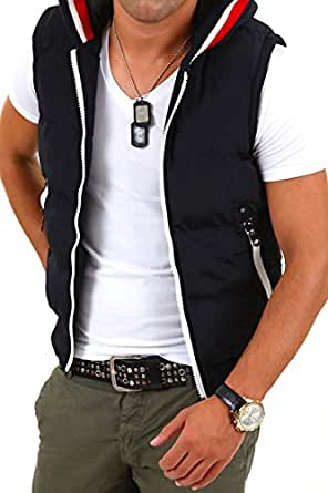 MT Styles Hooded Quilted Gilet D603 [noir, XXL]