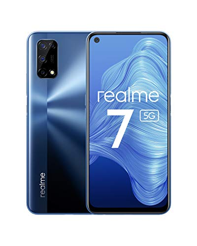 Oferta de realme 7 5G - smartphone de 6.5, 6GB RAM + 128GB de ROM, 120Hz Ultra Smooth Display, 48MP Quad Camera, batería con 5000mAh y carga de 30W Dart Charge, Color Azul