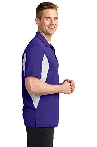 sport-tek Herren Hoch Seite blockiert micropique sport-wick Polo Purple/ White