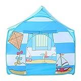 Zgsjbmh Tente Enfant cabane Maison Jeu Playhouse Pliable extérieur Bleu de Jouets de modèle de cerf-Volant de Tente de Jeu d'enfants pour des Enfants Tente de Jeux pour Enfants
