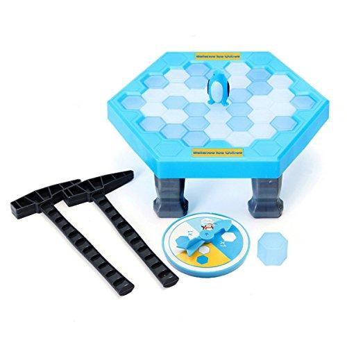 (MUIIGOOD Puzzle Tischspiele Balance Eiswürfel Sparen Pinguin Icebreaker Schlagen Sparen Pinguin Klopfen Eis Block Wand Spielzeug Interactive Desktop Party Vaterschaft Spiele)