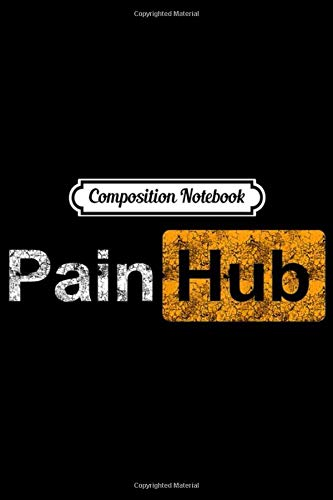 Composition Notebook: Painhub Logo character distressed  Journal/Notebook Blank Lined Ruled 6x9 100 Pages