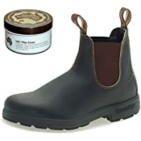 Blundstone Style 500 Classic Chelsea Boots Unisex Stiefelette + 250 ml Lederpflege   Stout Brown