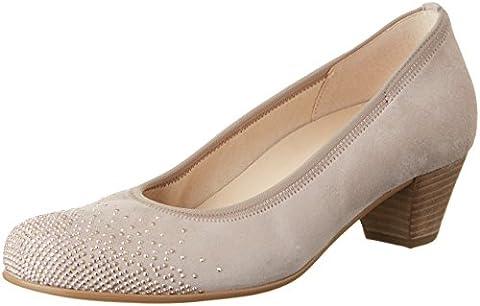 Gabor Shoes Comfort, Escarpins femme - Beige (Light Nude Strass 38), 38 EU