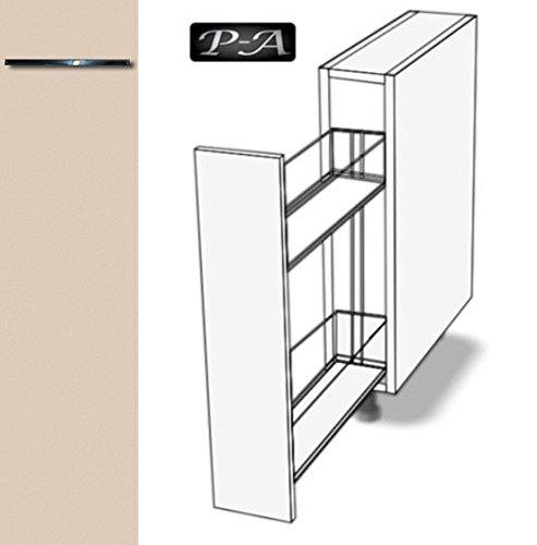 #Küchenschrank Unterschrank Apothekerschrank EURODEKOR® (Breite 20cm, 56 Sandbeige)#