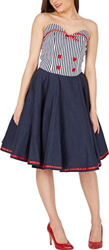 BlackButterfly 'Naomi' Vintage Marine Kleid im 50er-Jahre-Stil (Blau, EUR 38 – S) - 4