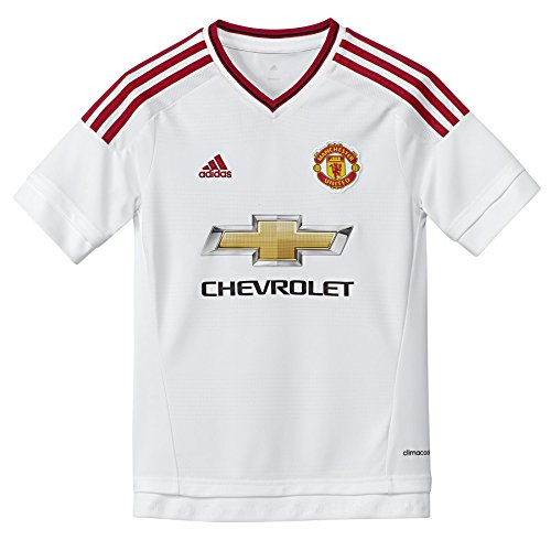 adidas MUFC A JSY Y Maillot pour enfant, blanc/rouge