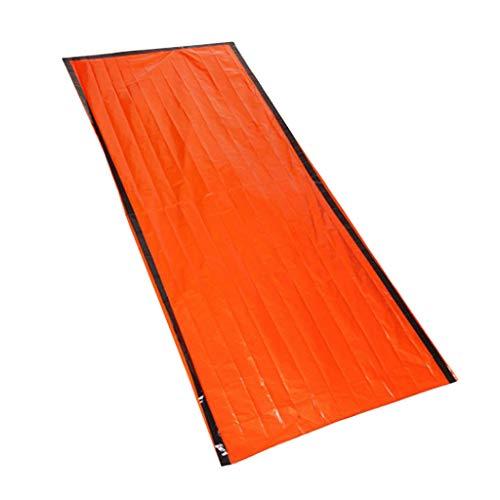 FLAMEER Erste-Hilfe-Zelt Survival Schlafsack Notfallzelt Biwaksack Orange Rettungsdecke Thermo Isolierung -Sack für Outdoor-Aktivitäten