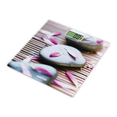 Omega OBS609 Báscula personal electrónica Rectángulo Multicolor - Báscula de baño (LCD,...