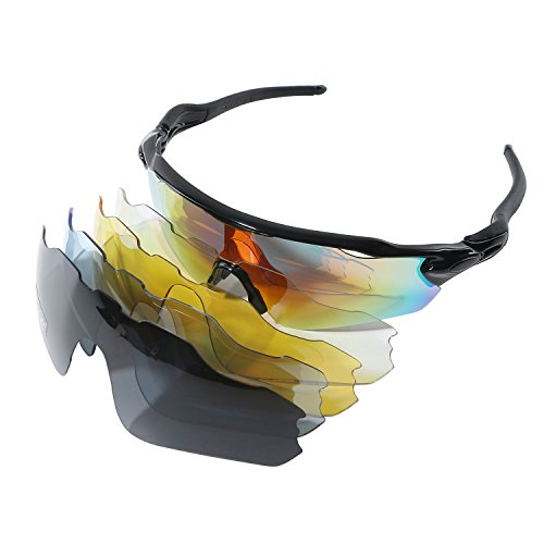 Polarizadas Gafas de deporte UV400anti deslumbramiento gafas a prueba de polvo Gafas de viento Espejo de bicicleta de montaña unisex Ciclismo Running gafas gafas de motocicleta