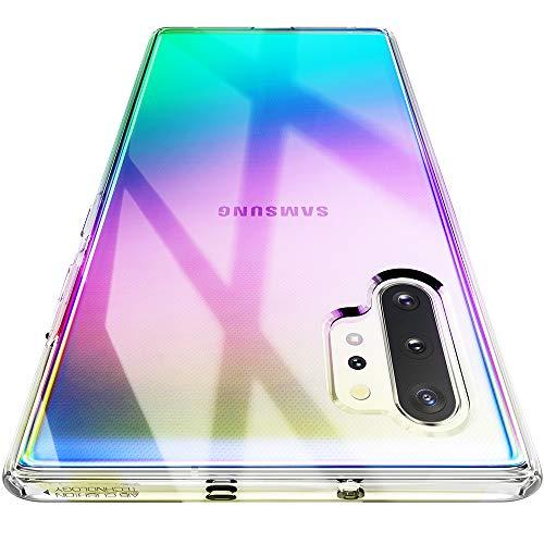 Spigen Coque Samsung Note 10 Plus, Coque Note 10 Plus [Liquid Crystal - Crystal Clear] Transparente, Légère, Ajustement Parfait, Air Cushion Protection, Coque Compatible avec Galaxy Note 10 Plus