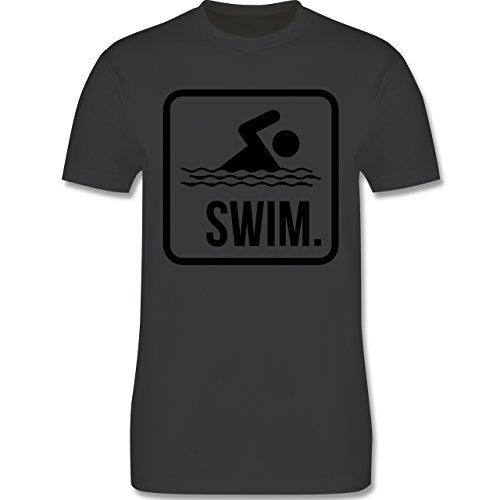 Wassersport - Swim. - Herren Premium T-Shirt Dunkelgrau