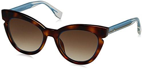 Fendi Damen Sonnenbrille Ff 0132/S Jd Schwarz (Havana Crystal Blue), 51 Preisvergleich
