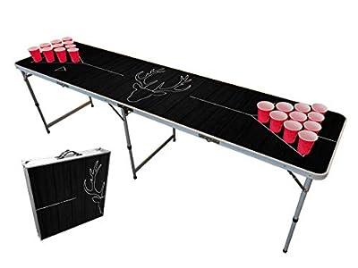 Original Cup - Pack de Table Beer Pong, incluant 100 x Gobelets Rouges 53 cl, 6 Balles Beer Pong, Dimensions Officielles Compétition, BP-Deer, Version Deer