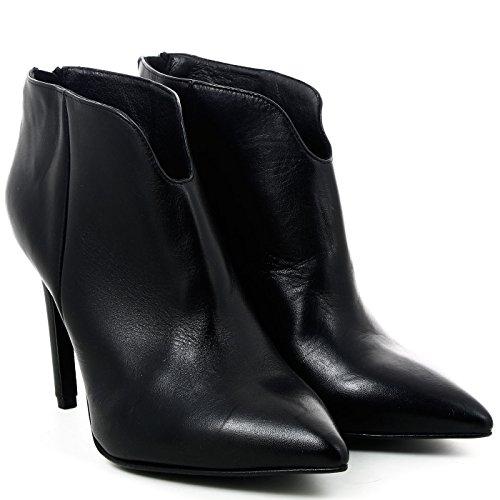 Noir Café, Ankle Boots De Mulheres Em Couro, Pht107, Preto