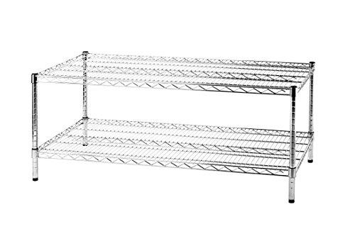 Scaffali In Metallo Cromato.Archimede Sistema Componibile Scaffale Due Ripiani Metallo Cromato