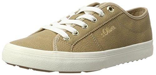 s.Oliver Damen 23602 Sneaker Beige (Sand)