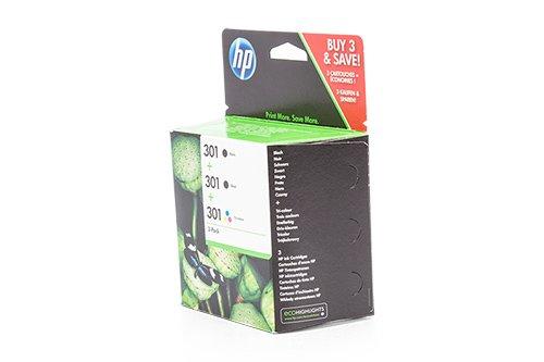 Preisvergleich Produktbild Original Tinte passend für HP DeskJet 2543 HP 301 E5Y87EE - 3x Premium Drucker-Patrone - Schwarz, Cyan, Magenta, Gelb - 2x190 & 1x165 Seiten - 2 x 3 & 1 x 3 ml