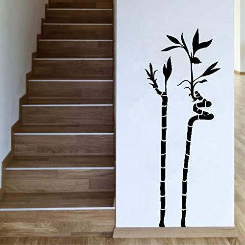 Ornamentali piante d\'interni Spirale di bambù Pianta decalcomanie Whindow Adesivo Camera da letto Decor rimovibile Vinyl Art Wall Sticker 57 * 74Cm