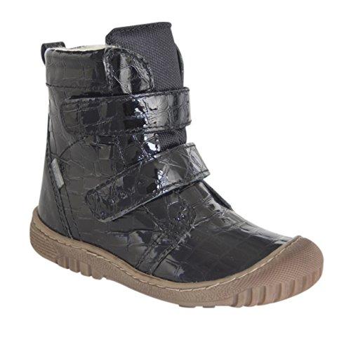 MOVE Junior Tex Boot, Bottes mi-hauteur avec doublure chaude mixte enfant Noir - Schwarz (Black Croco939)