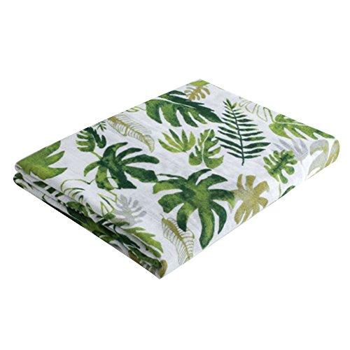 Bambus Musselin-Quadrat Wickeldecke, Ultra weicher Bio-Baumwolle Infant erhalten Comfort Wickeltuch für Dusche Geschenk, Spucktücher und Buggy, perfekt, baumwolle, Tropical Palm Leaves, 120x120cm (Palm-perfekte)