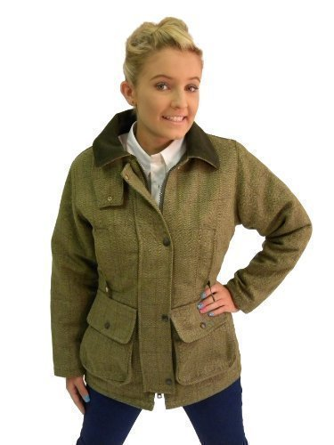Campbell-Cooper-Ladies-Original-Classic-Fitted-Tweed-Countrywear-Fashion-Jacket-Green-New