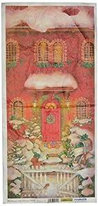 Renkalik renkalikqsito031t 23x 50cm Bienvenido Navidad Seda impresión Hoja de Papel de Toalla (Juego de)
