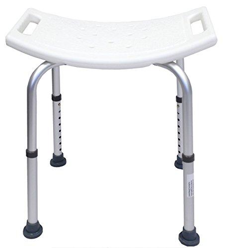 Badhocker 8 fach verstellbar Duschstuhl Badestuhl Duschhocker 150 kg Duschhilfe