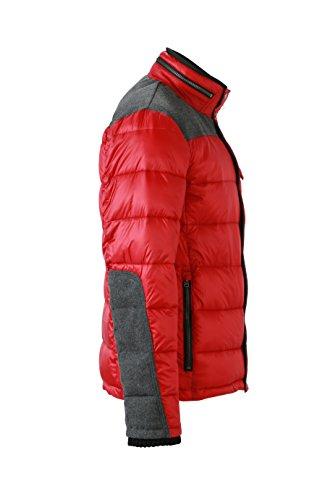 James & Nicholson Herren Jacke Jacke Winter Jacket Indian-Red