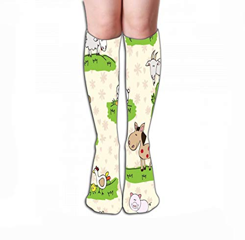 Xunulyn Hohe Socken Women's Tube Stockings High Graduated Over The Calf Tube 19.7