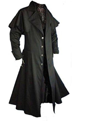 Inter Moden Tageskleidung - Herren Gothic Kutscher Mantel Matrixo XXL (Essen Halloween Beste)
