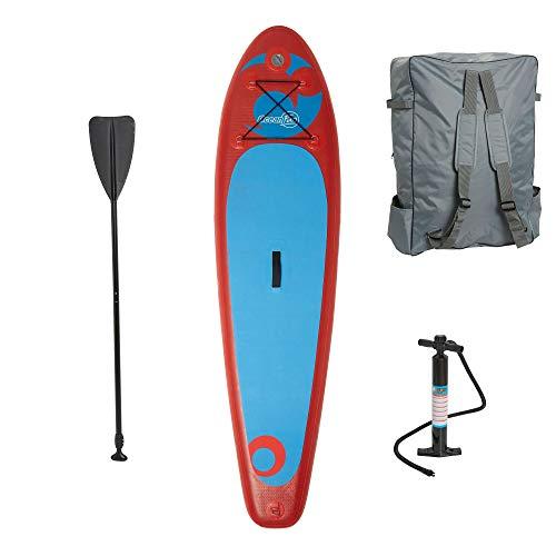 Ocean Fun Kids Sup Board aufblasbar 90 kg Stand up Paddle Board Set für Kinder mit Hochdruckpumpe Tasche Paddel und Zubehör 250 x 63 x 15 cm Surfboard
