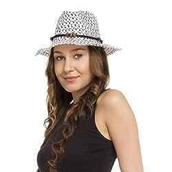 FabSeasons White Beach Hat For Women