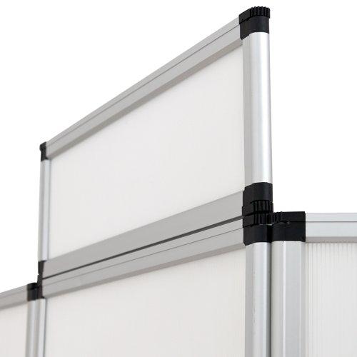 TecTake Promotionswand 180x200 cm Messestand Faltdisplay Faltwand Faltpaneel Messewand mit Tisch weiß -