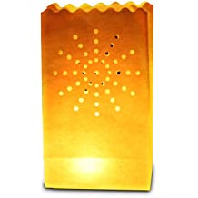 Candle Bags UK Candle Luminary Bags (Pack of 10) - Sun Design