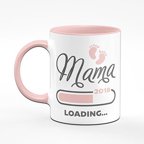 Tasse Mama loading 2018 rosa - für werdende Mütter - das perfekte Geschenk für Schwangere - Kaffeetasse - 2