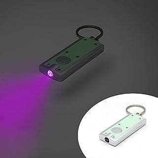 Blacklight Flat key ring 1 led flashlight, UV light 385 Nm, money detector