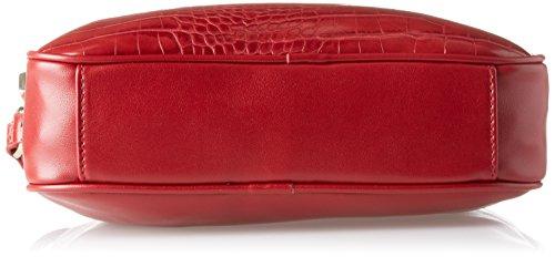 Gaudì Crossbody-Linea Audrey-cm. 25 x 18,50 x 6,50, Borsa a Mano Donna, 25 x 18.5 x 6.5 cm (W x H x L) Rosso (Red)